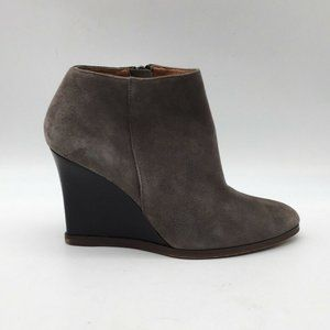 Halogen Womens Ankle Boots Gray Wedge Heel 7.5 M
